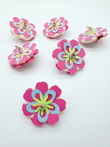 Flower footie - set of 2
